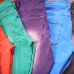 100% algodón hilo de color sólido de color Dued Denim