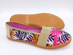 Venta caliente buen precio la mujer de inyección de zapatos de lona zapatos Zapatillas casual (HP181017)