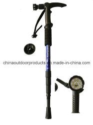 Randonnée pédestre Antishock stick Bâton de marche avec la boussole Lampe torche à LED (HE-411)