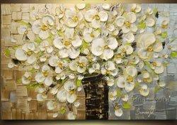 100% Hechos a mano Flor Óleo la pintura de cuchilla (KVF-019)