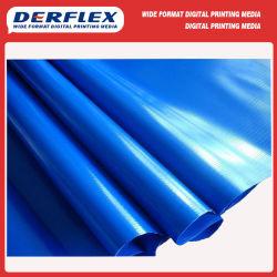 Tela incatramata antivento ignifuga resistente UV impermeabile del tessuto del rullo del PVC