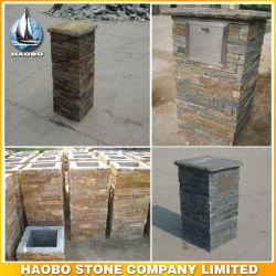 Slate наружных и внутренних Walling оптовой развитого каменными колоннами