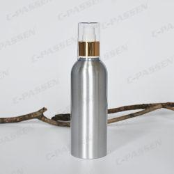 Bottiglia di alluminio cosmetica della lozione con pompa dorata/d'argento della lozione (PPC-ACB-002)