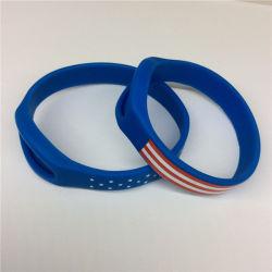 Logo OEM Custom Flag National Fashion Silicon Rubber Wrist Band