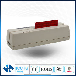 Via 1/2/3 porta USB do leitor de cartão de dedo magnético MSR206u do HCC