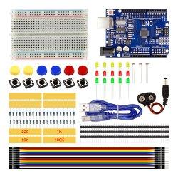 Starter Kit Uno R3 Mini LED Breadboard Puente Botón R3 de la ONU