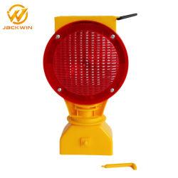 Red LED amarelo piscando tráfego Solar Barricada pisca a luz para a Segurança na Estrada