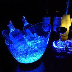 Plástico de alta calidad LED iluminado cubos de hielo Wholesale