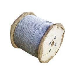 持ち上がり、引くことのための電流を通された6*37鋼線ロープ