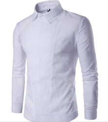 100% хлопок рубашки бизнеса для мужчин кнопку Вниз на втулку причинных футболка