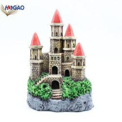 China Supplier Home Decor Miniatur-Gebäudemodell Aus Statue-Harz