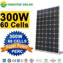 Guangzhou mince Panneau solaire 300W monocristallin pour toit de l'installation