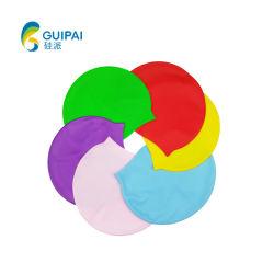 多彩な方法ロゴは水泳帽のシリコーンの水泳の帽子を印刷した