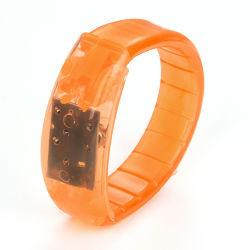 Синий светодиодный индикатор звука активирована Bangle браслеты браслеты
