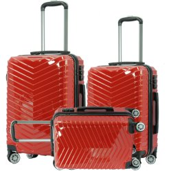 Ontworpen Voor 2019 Aluminium Trolley Dubbele Wielen Bagage Set