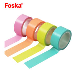 Foska autoadhesiva caliente Colorido papel japonés Washi Tape