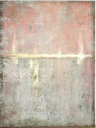 Gran parte de la pared pintada de rosa, el arte abstracto moderno Óleo decoración contemporánea, obra de arte (30 X 40 pulgadas) GF-P190527124