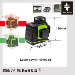 98FT zelf-nivelleert DwarsNauwkeurigheid 3mm van de Macht van de Lijn per het Niveau van de Laser van 10mLasers (GF360)