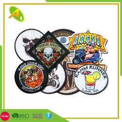 Конструкция подстраиваемое название и логотип торговой марки хлопчатобумажной ткани из патч для одежды (050)