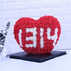 2021 아마존 핫 발렌타인 데이 선물 폼 로즈 하트 인공 페폼 로즈 러브(PE Foam Rose Love), 페이각 하트 유원지 플라워(Peach