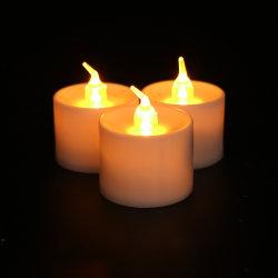 LEDの茶蝋燭ライト冷たく白く再充電可能な茶ライトLED蝋燭