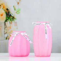 結婚式の装飾のためのピンクシリーズ曇らされたガラスのつぼ