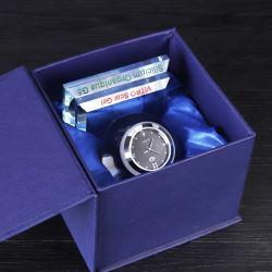 K9 Reloj de cristal para regalo de recuerdo de artesanía