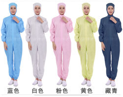 Uniformes de commodities cinzas bata descartável estéril Anti-Static Garment pode exportar Protecção Pessoal