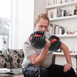 يسكن [40كغ] [90لبس] [جم] تدريب دمبل محدّد [أدوستبل] [موتي] [فونأيشن] وزن لياقة [بودي بويلدينغ]