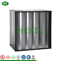 Scherpe Prijs Compact Plastic Frame Glassfiber Mini Plein Industrial V-Bank Cell Rigid Type H13 Hepa Air Filter