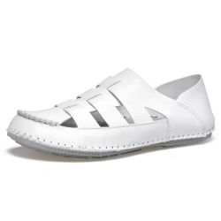 2019 горячей новой продукции популярных открытый Non-Slip PU обувь Кожаные босоножки мужской одежды