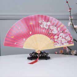 regalo de promoción de negocios al por mayor colorido del ventilador de plegado de papel de impresión