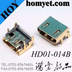 SMT 19pin Vrouwelijke Schakelaar HDMI voor Geheugen PC/Notebook/STB/TV/HDTV/DV/MID/Removable