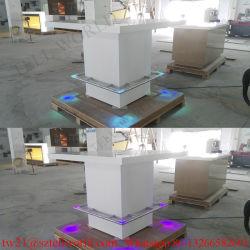 판매 LED 상업적인 바 카운터 디자인을%s 높은 광택 있는 아크릴 조명된 바