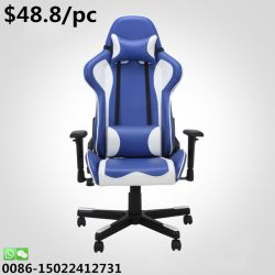 Soft chaise de bureau Ordinateur de jeu de course avec la molette ergonomique pivotant