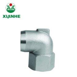 Appuyez sur les raccords de tuyaux en acier inoxydable de coude de 90° à filetage femelle à moulage de précision en acier inoxydable