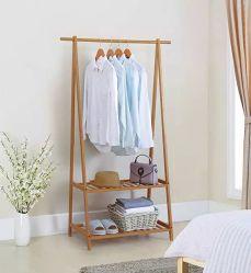Portemanteau Magasin de vêtements Stand d'affichage de la fenêtre en bois massif de vêtements en bambou Rack rack Extra Large portable
