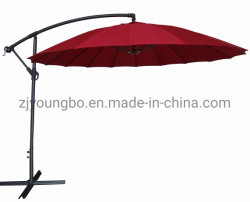 De hete Parasol van de Cantilever van de Tuin van de Paraplu van de Banaan van de Ribben van de Glasvezel van de Verkoop Openlucht