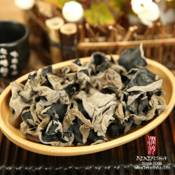 Getrockneter schwarzer Pilz