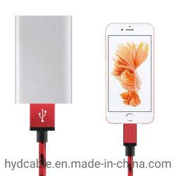Nylon Lijnen Gevlecht Aluminium 8pin de Kabel van de Lader voor iPhone
