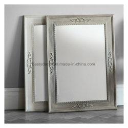 Chic minable en bois sculpté miroir mural permanent Frame