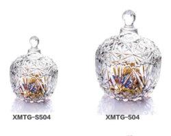 Novo Design decorativo elegante de vidro cristal açúcar cândi jarra de vidro de caixa para o casamento de terceiros
