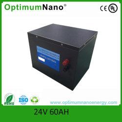 24V Litium-Ion Batterie 24V 60ah LiFePO4 аккумуляторной батареи с помощью различных случаев
