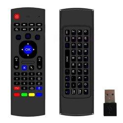 Mx3 Voar Air Mouse Sensores 2,4Ghz Mini-Teclado Sem Fio para caixa de TV