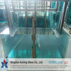 Toughed/en verre trempé clair pour les escaliers et rampes/Feuille de verre