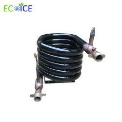 水暖房および水冷却へのプールのヒーターのエアコンの空気のための螺線形の二重銅の管の熱交換器の製造業者