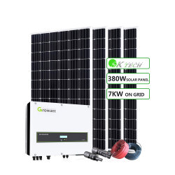 Casa de la instalación del techo de 7kw en la red eléctrica Sistema de Energía Solar