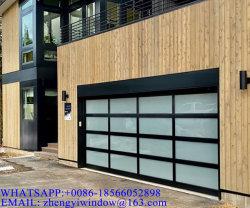卸し売り現代外部の鋼鉄出入口のリモート・コントロール自動家によって使用されるアルミニウム透過ガラスガレージの出入口広州