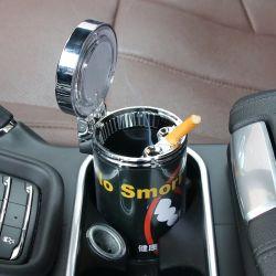 LED를 가진 연기가 나는 더 가벼운 차 재떨이 쓰레기통 담배 다기능 차 재떨이