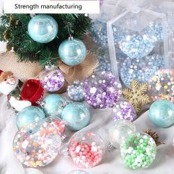مصنّعة جملة مستديرة عيد ميلاد المسيح شفاف [أكريليك] بلاستيك كرة